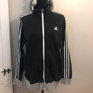 Black, gray, and white Adidas zip up!